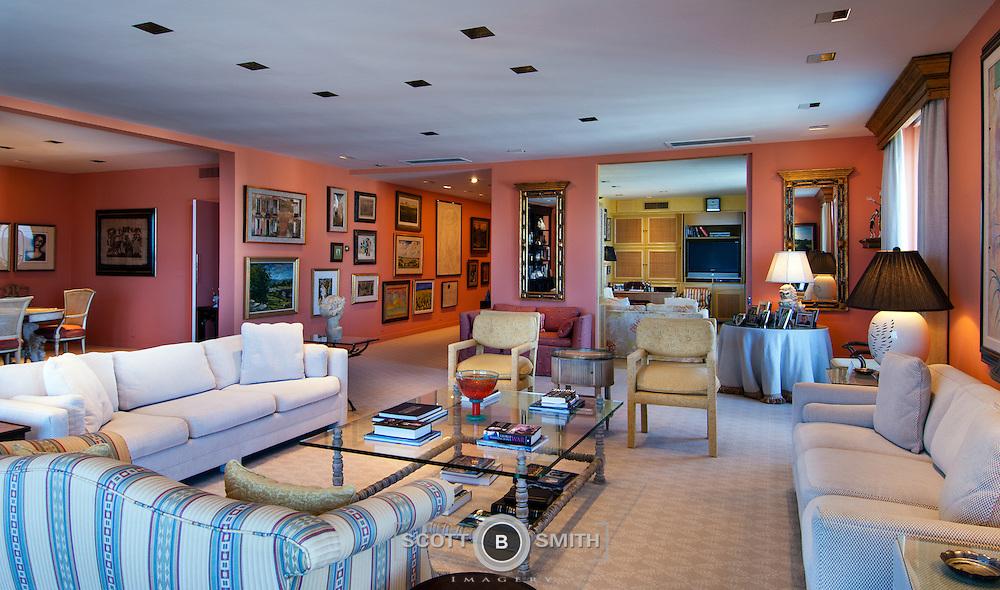 Luxury penthouse condominium at the corner of Worth Avenue and South Ocean Boulevard.101 Worth Avenue; Kirkland House, Palm Beach PH-A