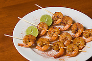 KEVIN BARTRAM/The Daily News.Spicy grilled shrimp prepared by Donna Dulfur is shown at her home in Houston on Tuesday, Oct. 17, 2006. Dulfur will teach a catering class at the William Sonoma store at Baybrook Mall. .