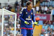 Sunderland goalkeeper Costel Pantilimon looks on .Barclays Premier League match, Aston Villa v Sunderland at Villa Park in Birmingham, Midlands on Saturday 29th August  2015.<br /> pic by Andrew Orchard, Andrew Orchard sports photography.