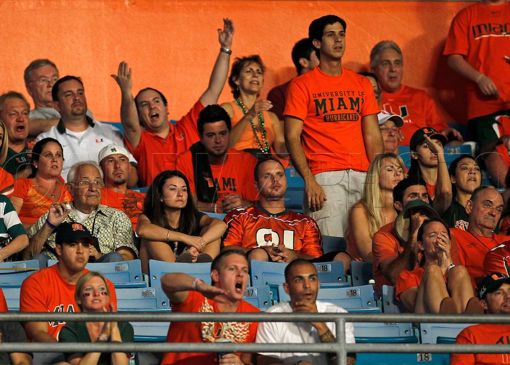 the University of Miami vs Florida State University on Saturday October 9, 2010.