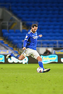 Cardiff City's Captain Sean Morrison (4) in action during the EFL Sky Bet Championship match between Cardiff City and Millwall at the Cardiff City Stadium, Cardiff, Wales on 30 January 2021.