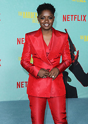 Actress/rapper Bre-Z (Calesha Murray) arrives at the Los Angeles Premiere Of Netflix's 'The Harder They Fall' held at the Shrine Auditorium and Expo Hall on October 13, 2021 in Los Angeles, California, United States. Photo by Xavier Collin/Image Press Agency/ABACAPRESS.COM