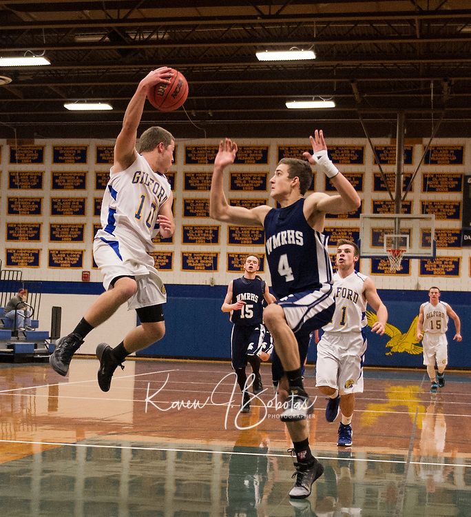 Gilford versus White Mountain basketball.  Karen Bobotas for the Laconia Daily Sun