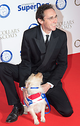 "Battersea, London, November 3rd 2016.  Celebrities and their dogs attend The Evolution at Battersea Park to attend The Battersea Dogs and Cats Home ""Collars and Coats Ball"". PICTURED: Guy Henry"