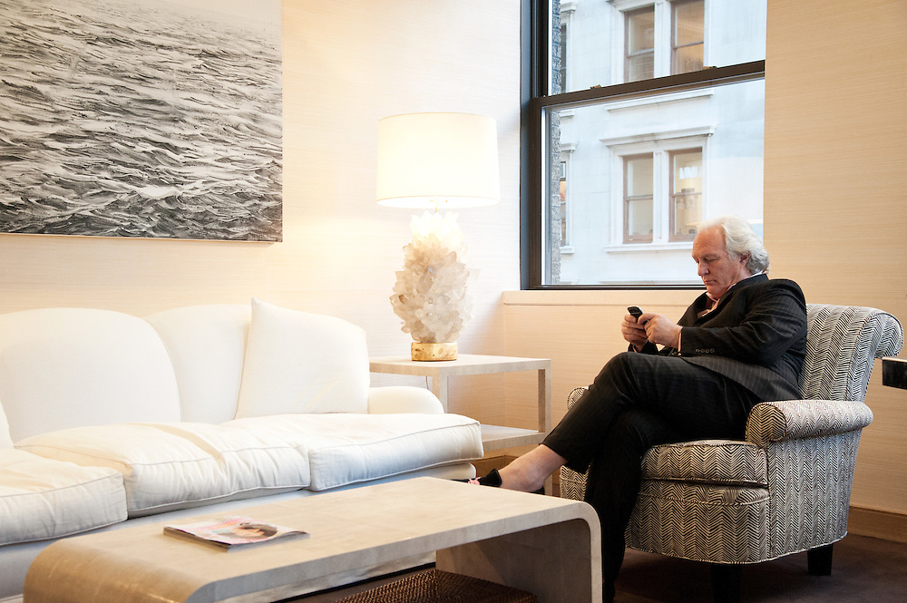 Chris Burch in his office in New York City.