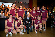 Bayswater, London, Oxford Brooks University,  pose with Lord Snowdon,  the Snowdon Rowing Challenge, on Friday   05/03/2010  at the Porchester Hall London GREAT BRITAIN.  [Mandatory Credit. Peter Spurrier/Intersport Images]