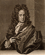 Georg Ernst Stahl (1660-1734) German chemist and medical theorist.  Proposed the phlogiston theory of combustion.  Engraving from his 'Opusculum Chymico-physico-medicum' (1715).