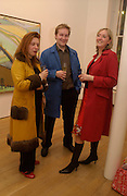 Isabella Sherlock, Ossian Ward and Jules Dixon. Wayne Thiebaud opening, Faggionato Fine Arts, Albermarle St. 10 April 2003. © Copyright Photograph by Dafydd Jones 66 Stockwell Park Rd. London SW9 0DA Tel 020 7733 0108 www.dafjones.com