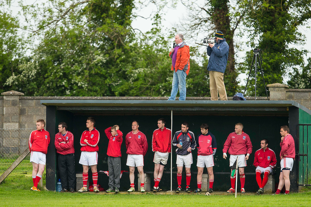 Clonard vs Drumconrath, Junior Football Championship at Sean Newman Park, Bohermeen, Saturday 24th May 2014<br /> Clonard substitutes look on, as the match is broadcast from the roof<br /> Photo: David Mullen / www.cyberimages.net © 2014