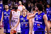 Traini Andrea<br /> Grissin Bon Reggio Emilia - Germani Basket Brescia<br /> Lega Basket  Serie A  2017/2018<br /> Bologna, 04/04/2018<br /> Foto A.Giberti / Ciamillo - Castoria