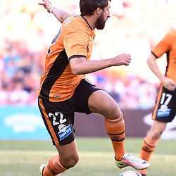 BRISBANE, AUSTRALIA - JANUARY 7: Thomas Broich of the Roar in action during the round 14 Hyundai A-League match between the Brisbane Roar and Newcastle Jets at Suncorp Stadium on January 7, 2017 in Brisbane, Australia. (Photo by Patrick Kearney/Brisbane Roar)