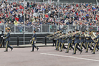 LONDON - JUNE 05: The Band of the Royal Air Force Regiment, The Queen's Diamond Jubilee, The Mall, London, UK. June 05, 2012. (Photo by Richard Goldschmidt)
