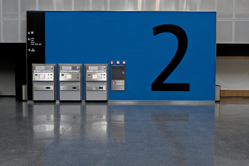 Parking Ticket machines at an Exhibition Centre