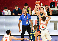 Igor Kokoskov, coach of Slovenia watching Klemen Prepelic of Slovenia vs Sergio Rodriguez of Spain during basketball match between National Teams of Slovenia and Spain at Day 15 in Semifinal of the FIBA EuroBasket 2017 at Sinan Erdem Dome in Istanbul, Turkey on September 14, 2017. Photo by Vid Ponikvar / Sportida