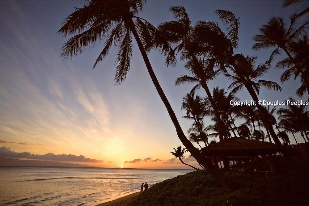 Sunset, Kaanapali Beach, Maui, Hawaii