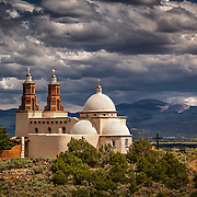 La Capilla de Todos Los Santos —The Chapel of All Saints — is a domed adobe chapel resting atop the mesa visible across the San Luis Valley in Southern Colorado.
