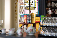 The tea bar at the Huntingdon Manor in Victoria BC has been redesigned in a traditional Victorian style by Western Interior Design Group.