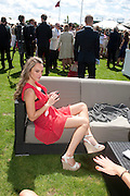 VALENTINA TROTTA, Cartier International Polo. Smiths Lawn. Windsor. 24 July 2011. <br /> <br />  , -DO NOT ARCHIVE-© Copyright Photograph by Dafydd Jones. 248 Clapham Rd. London SW9 0PZ. Tel 0207 820 0771. www.dafjones.com.
