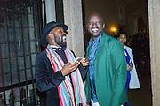 SAMSON KAMBALU, David Adjaye , Okwui Enwezor and Vinyl Facorty hosted party at Ca'Sagredo, Campo Santa Sofia Venice Biennale, Venice. 5 May 2015