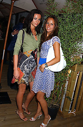 Left to right, MARIE DONOHUE and MISHA NONOO  at the launch of Friday Nights at Mamilanji - Chelsea's newest and most exclusive members club, 107 Kings Road, London SW3 hosted by Charlie Gilkes and Duncan Stirling held on 29th July 2005.<br /><br />NON EXCLUSIVE - WORLD RIGHTS