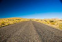Remote road into Goblin Valley State Park, Utah.