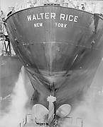 "ackroyd-P519-05 ""Walter Rice on drydock. May 14, 1970"" (sandblasting at Swan Island)"