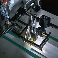 Envelope scanner in use.