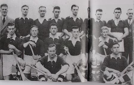 Cork-All-Ireland Hurling Champions 1941. Back Row: Jim Barry (trainer), C Buckley (capt), M Brennan, A Lotty, J Lynch, B Thornhill, J Barrett, T O'Sullivan, W Walsh, (chairman). Middle Row: W Campbell, D J Buckley, J Buttimer, J Quirke, W Murphy, J Young. Front Row: C Ring, C Cottrell.