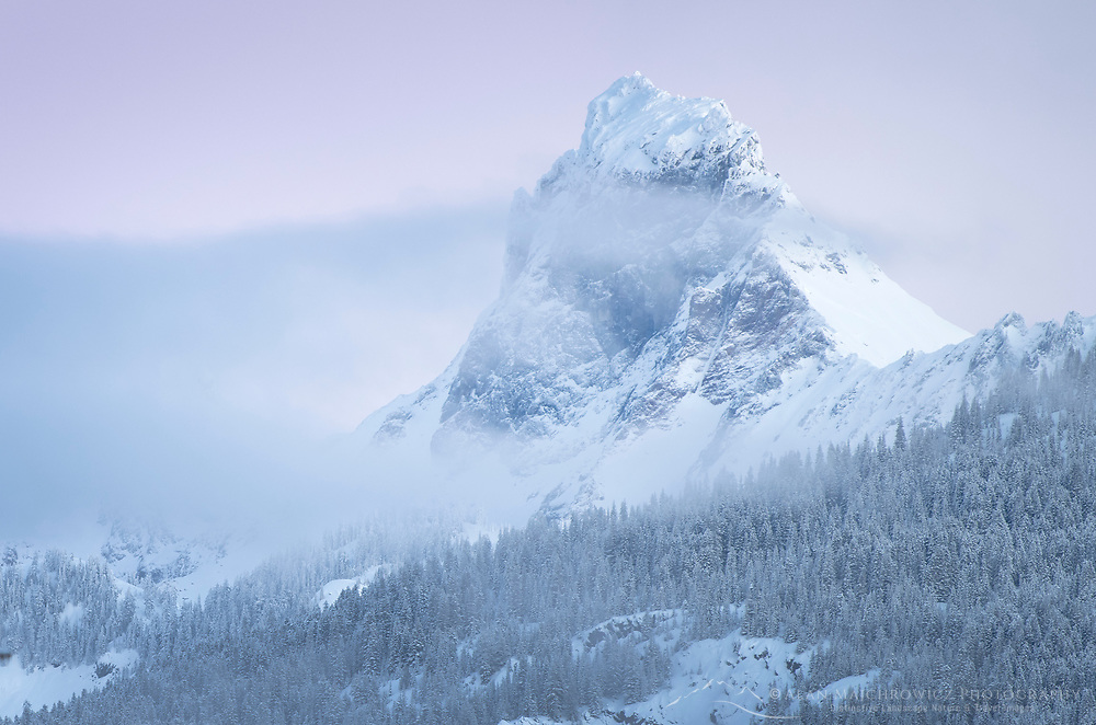 American Border Peak in winter, Mount Baker Wilderness North Cascades Washington