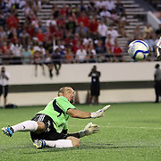 Richmond goalkeeper Ronnie Pascal gets scored on during the United Soccer League Pro American Division Championship soccer match between the Richmond Kickers and the Orlando City Lions at the Florida Citrus Bowl on August 27, 2011 in Orlando, Florida. Orlando won the match 3-0 to advance to the USL Pro Final.  (AP Photo/Alex Menendez)