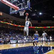 Nov 23  2018 Las Vegas, NV  U.S.A.  North Carolina guard Coby White (2) drives to the hoop and slam dunk during the NCAA Men's Basketball Continental Tire Las Vegas Invitational between UCLA Bruins and the North Carolina Tar Heels 94-78 win at The Orleans Arena Las Vegas, NV. Thurman James / CSM
