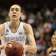 Breanna Stewart, UConn, takes a free throw during the UConn Vs Cincinnati Quarterfinal Basketball game at the American Women's College Basketball Championships 2015 at Mohegan Sun Arena, Uncasville, Connecticut, USA. 7th March 2015. Photo Tim Clayton