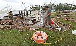 Aftermath of Hurricane Irma at Sundance Marine in Palm Shores, Fla. on Monday, September 11, 2017. (Red Huber/Orlando Sentinel/TNS) Photo by Orlando Sentinel/TNS/ABACAPRESS.COM