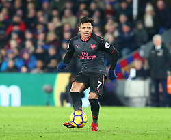 December 28, 2017 - London, England, United Kingdom - Arsenal's Alexis Sanchez..during Premier League  match between Crystal Palace and Arsenal at Selhurst Park Stadium, London,  England 28 Dec 2017. (Credit Image: © Kieran Galvin/NurPhoto via ZUMA Press)