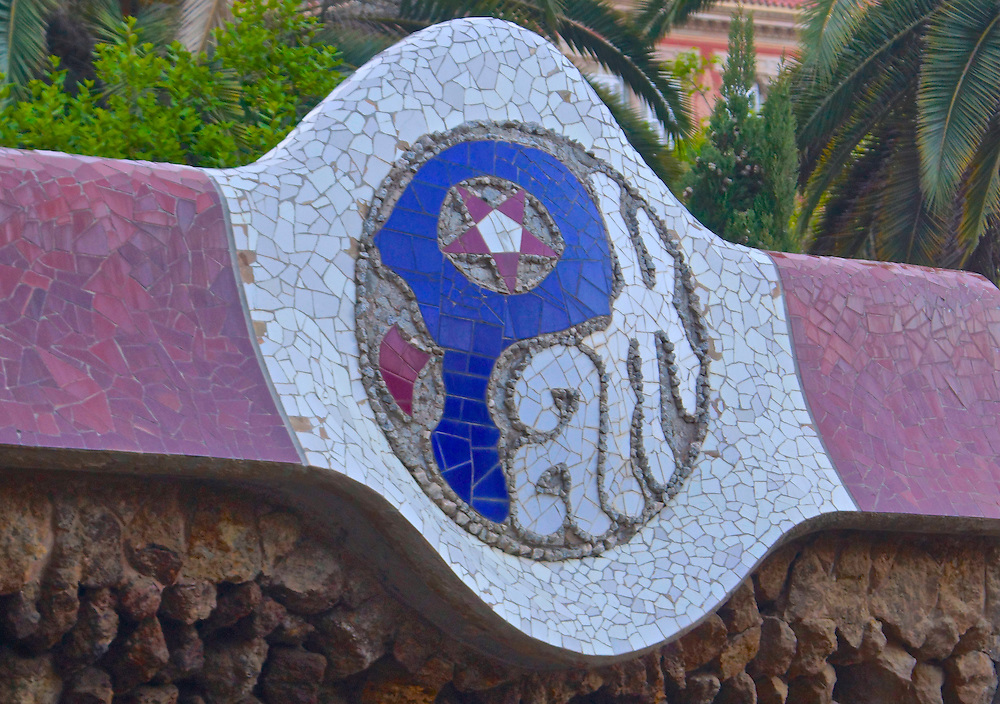 Barcelona, Spain Park Guell, Designed by Antoni Gaudi,