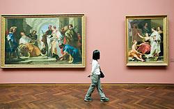 Interior view of art works at Stadel art museum or Städelsches Kunstinstutut in Frankfurt Germany