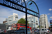 Subway at Elephant and Castle, London, UK. The area is now subject to a master-planned redevelopment budgeted at £1.5 billion. A Development Framework was approved by Southwark Council in 2004. It covers 170 acres and envisages restoring the Elephant to the role of major urban hub for inner South London.