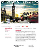 London Study Abroad Program June 2019