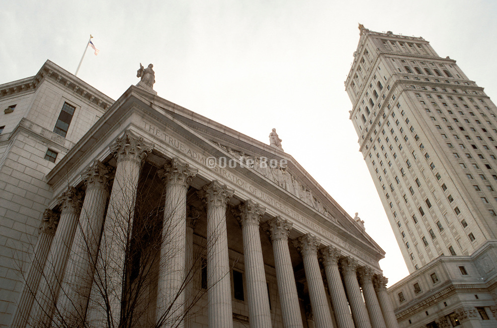 upward view of courthouse and buildings