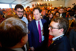 © Licensed to London News Pictures. 17/05/2017. London, UK. Former Liberal Democrat leader NICK CLEGG is at the Liberal Democrat manifesto launch for the 2017 general election in east London on Wednesday, 17 May 2017. Photo credit: Tolga Akmen/LNP