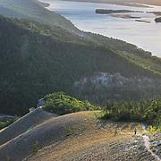 View to Volga river from the Zhiguli mountains