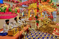 Inde, Delhi, vieux Delhi, temple sikh de Gurudwara Sis Ganj Sahib // India, Delhi, Old Delhi, sikh temple of Gurudwara Sis Ganj Sahib