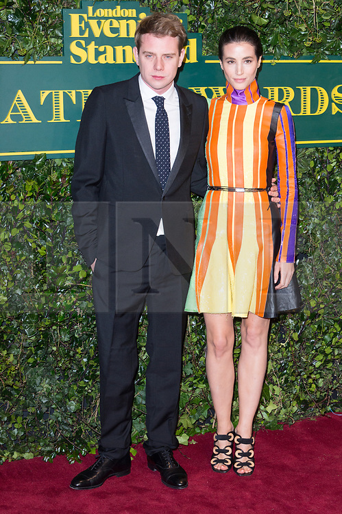© Licensed to London News Pictures. 03/12/2017. London, UK. J.W ANDERSON and ELISA LASOWSKI attends the London Evening Standard Theatre Awards 2017 held at the Theatre Royal, Dury Lane. Photo credit: Ray Tang/LNP