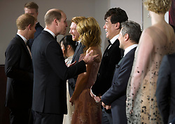 The Duke of Cambridge and Prince Harry attend The European Premiere of Star Wars: The Last Jedi, at the Royal Albert Hall, London, UK, on the 12th December 2017. Picture by Eddie Mulholland/WPA-Pool. 12 Dec 2017 Pictured: Prince Harry, Prince William, Duke of Cambridge. Photo credit: MEGA TheMegaAgency.com +1 888 505 6342