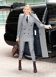 Blake Lively wears a silvery dress as her 7th outfit of the day in New York. 16 Oct 2017 Pictured: Blake Lively. Photo credit: FZS / MEGA TheMegaAgency.com +1 888 505 6342