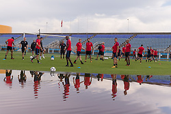October 8, 2017 - Couva, Trinidad and Tobago - Couva, Trinidad - Monday, October 9, 2017: The USMNT practice at Ato Boldon Stadium before their World Cup Qualifying match against Trinidad on Tuesday. (Credit Image: © John Dorton/ISIPhotos via ZUMA Wire)