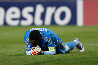 FOOTBALL - UEFA CHAMPIONS LEAGUE 2011/2012 - GROUP STAGE - GROUP F - OLYMPIQUE MARSEILLE v OLYMPIACOS - 23/11/2011 - PHOTO PHILIPPE LAURENSON / DPPI - DESPAIR STEVE MANDANDA (OM)