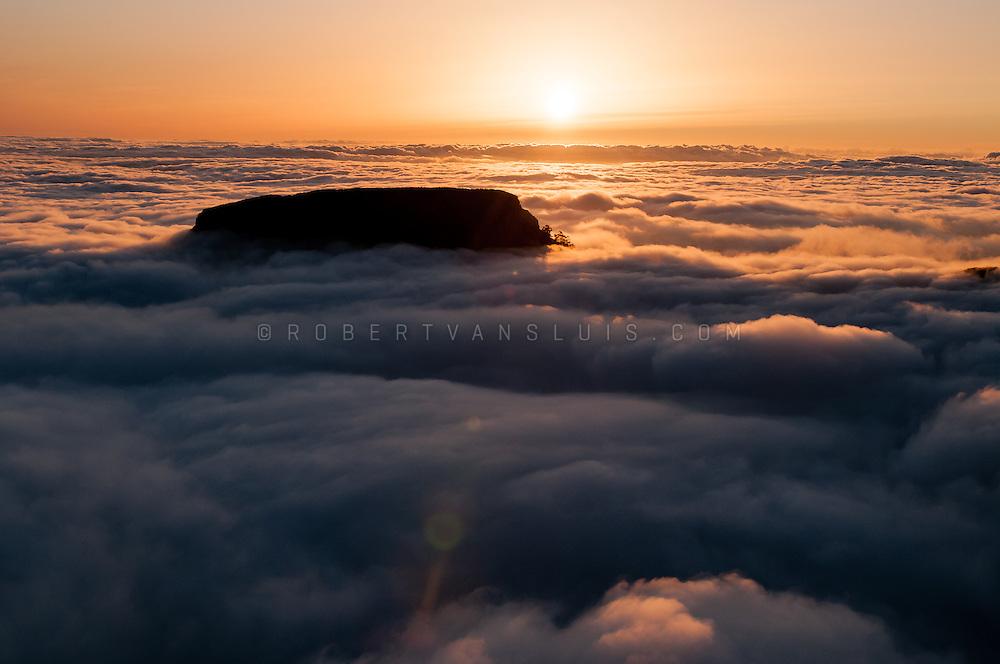 Sunset over La Fortaleza de Chipude, La Gomera, Canary Islands