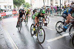 Sheyla Gutierrez Ruiz (ESP) of Cylance Pro Cycling accelerates out of a corner during the Prudential Ride London Classique - a 66 km road race, starting and finishing in London on July 29, 2017, in London, United Kingdom. (Photo by Balint Hamvas/Velofocus.com)