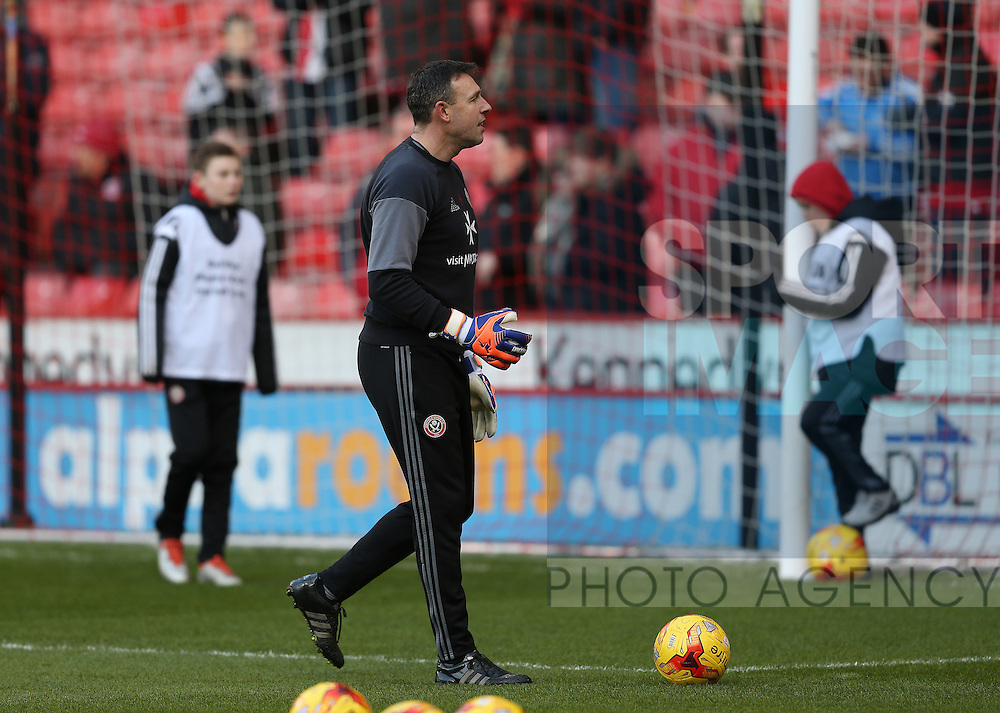 Darren Ward goal keeping coach during the English League One match at Bramall Lane Stadium, Sheffield. Picture date: December 26th, 2016. Pic Simon Bellis/Sportimage